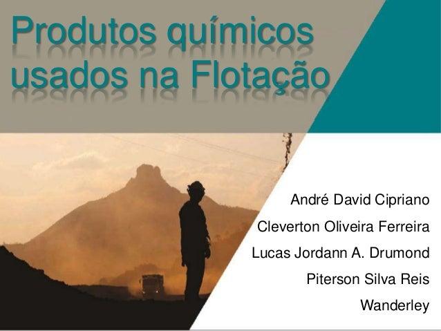 Produtos químicos usados na Flotação  André David Cipriano Cleverton Oliveira Ferreira  Lucas Jordann A. Drumond Piterson ...