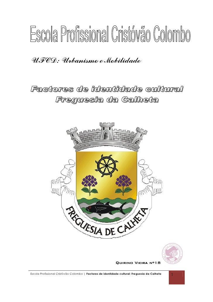 UFCD: Urbanismo e Mobilidade                                                                 Quirino Vieira nº18  Escola P...