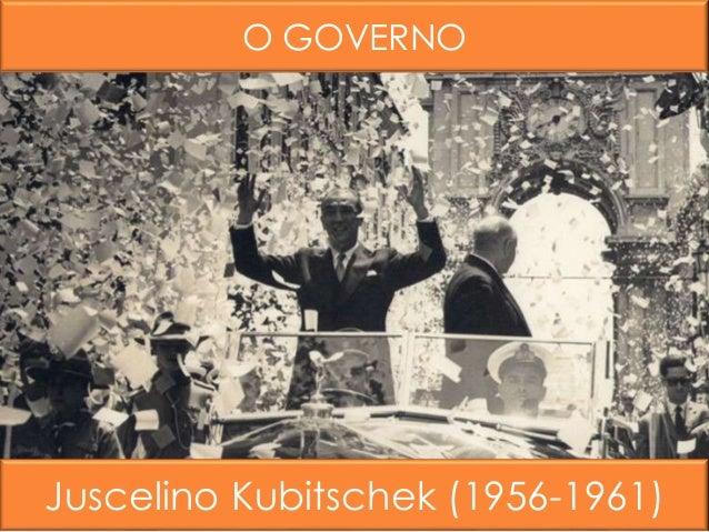 O GOVERNO Juscelino Kubitschek (1956-1961)