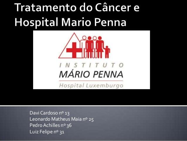 DaviCardoso nº 13 Leonardo Matheus Maia nº 25 PedroAchilles nº 36 Luiz Felipe nº 31
