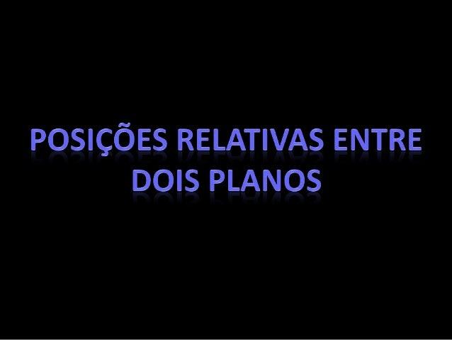 PLANOS PARALELOS  • Coincidentes  Se dois planos correspondem ao mesmo conjunto de pontos, dizemos que  eles são coinciden...