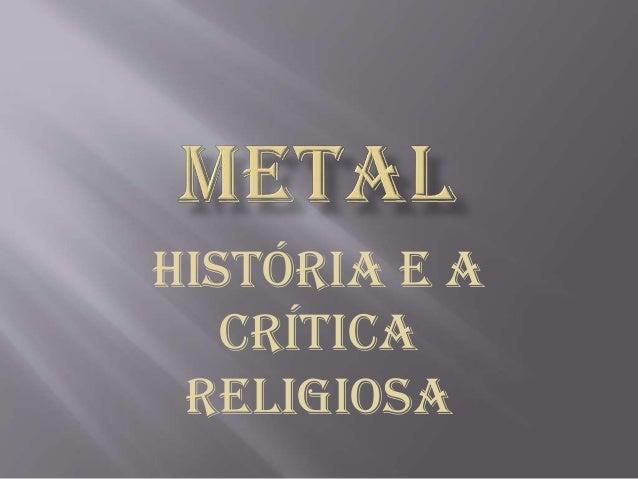 História e a Crítica Religiosa
