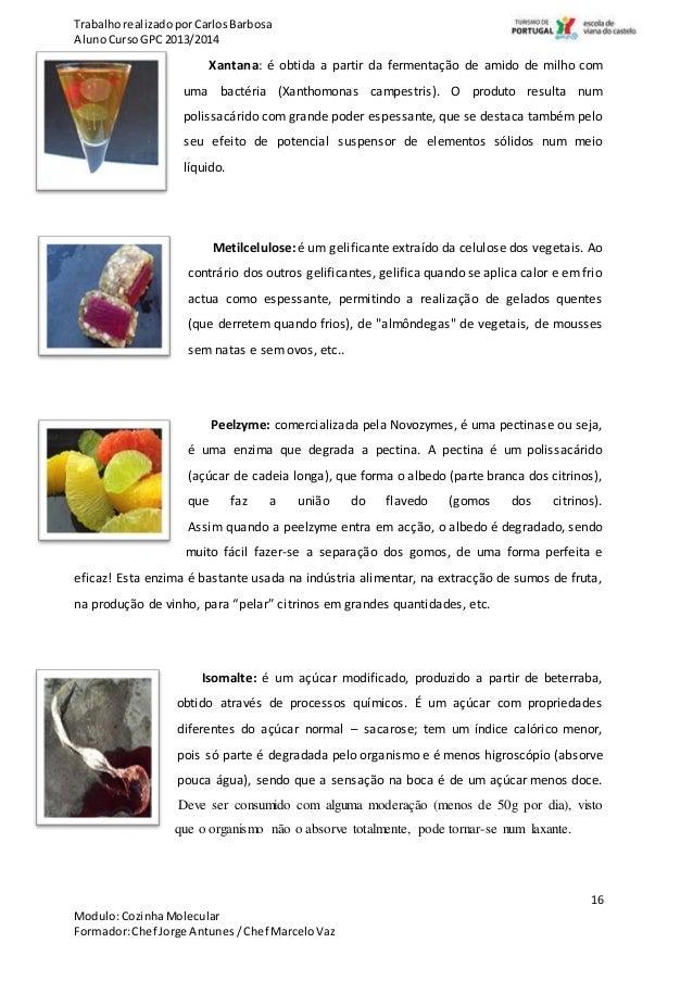 Gastronomia Molecular... Ciência na cozinha