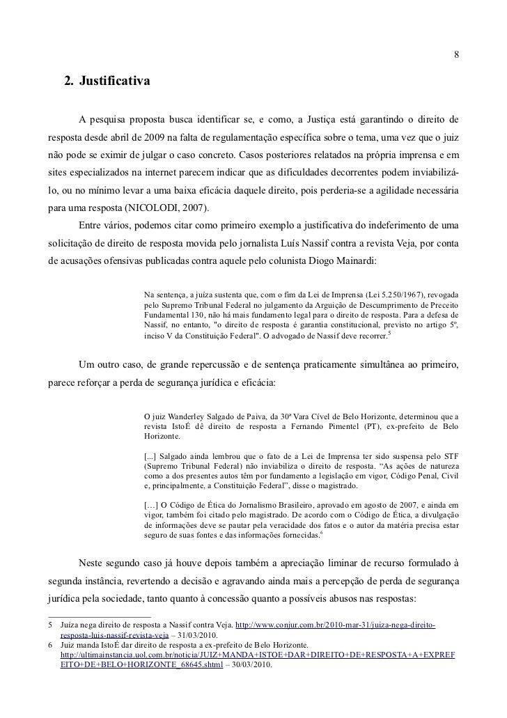 Segurança Jurídica e Eficácia da Garantia de Direito de Resposta após… 104babf6ee2b3