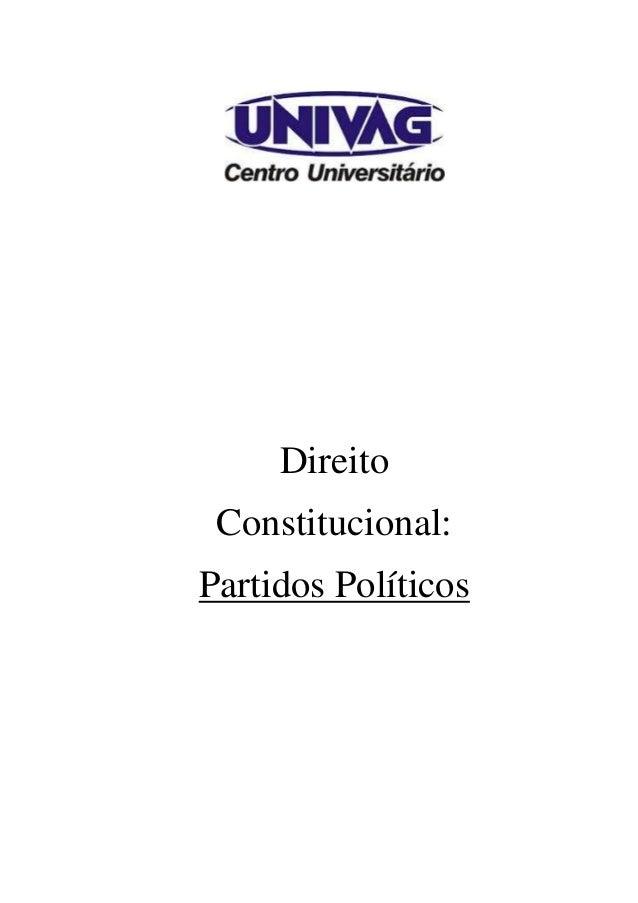 Direito Constitucional: Partidos Políticos
