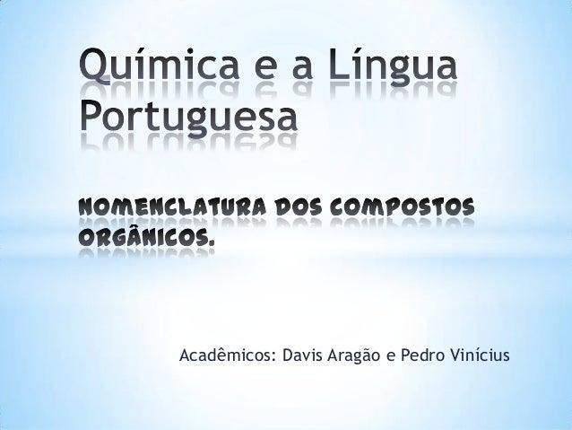 Acadêmicos: Davis Aragão e Pedro Vinícius