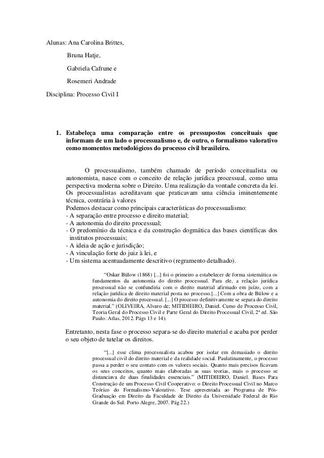 Alunas: Ana Carolina Brittes,  Bruna Hatje,  Gabriela Cafrune e  Rosemeri Andrade  Disciplina: Processo Civil I  1. Estabe...