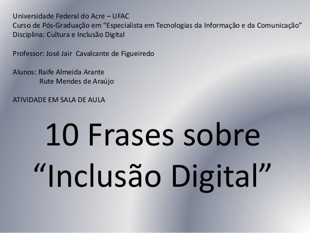Populares Trabalho Raife UFAC - POSTIC OS84