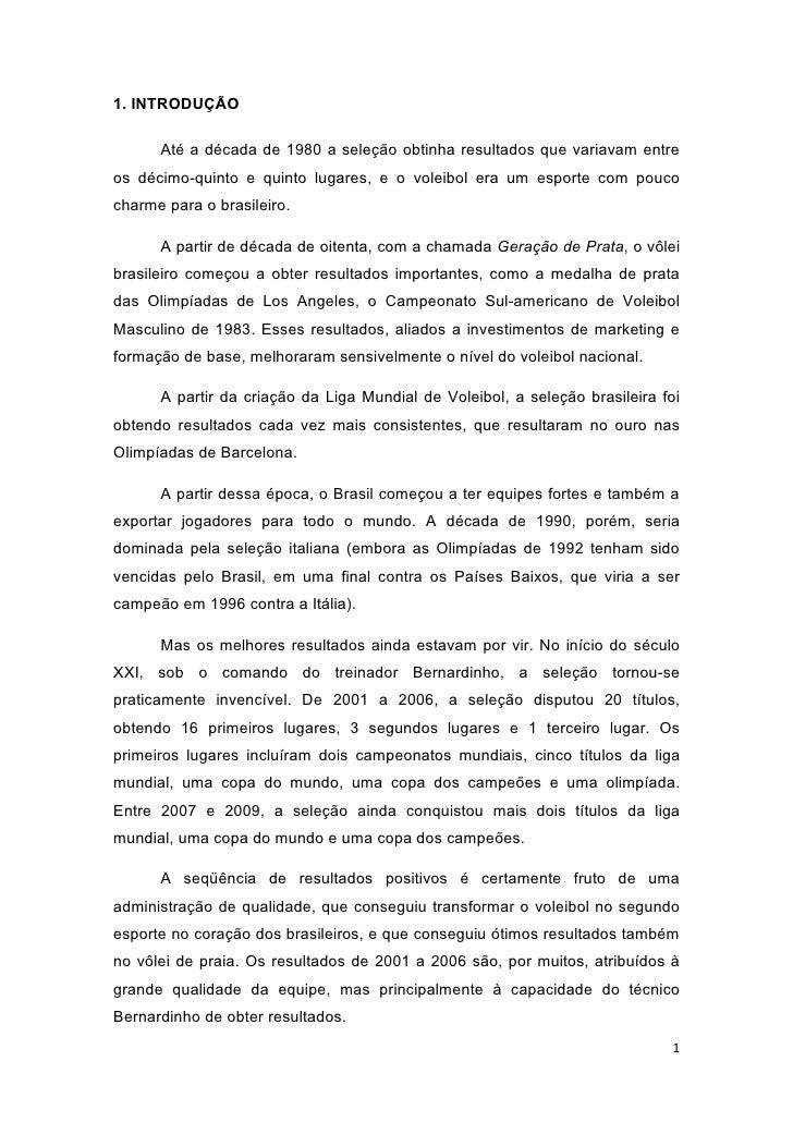 Liderança (Estudo de Caso) : Bernardinho
