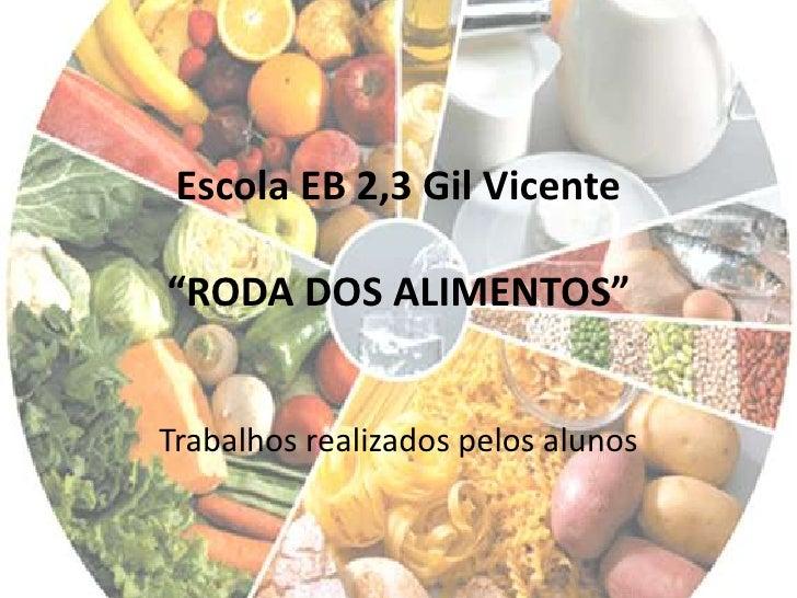 """Escola EB 2,3 Gil Vicente""""RODA DOS ALIMENTOS""""<br />Trabalhos realizados pelos alunos<br />"""