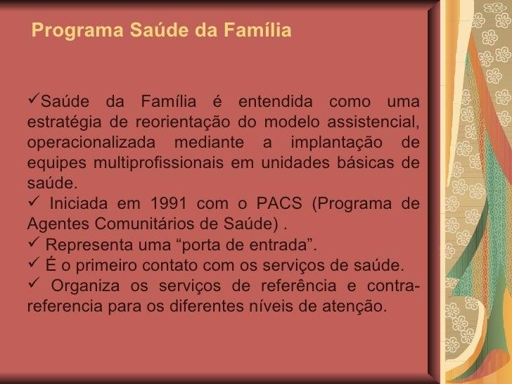 Programa De Saúde Da Família Psf