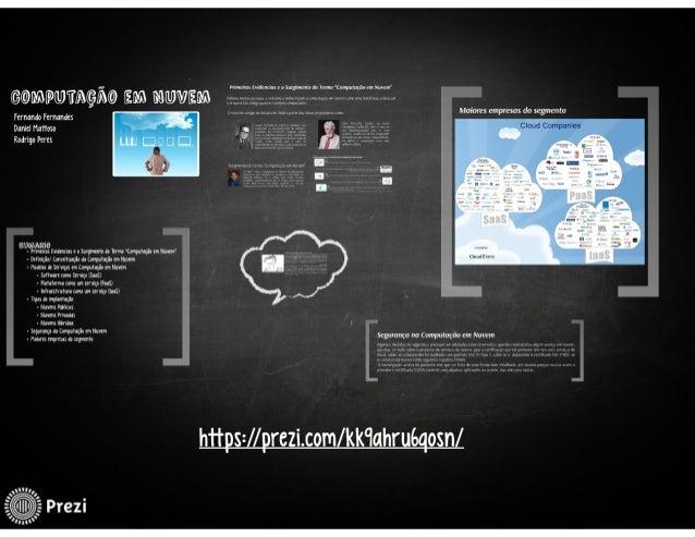 Trabalho sd   computação em nuvem (apresentação prezi)
