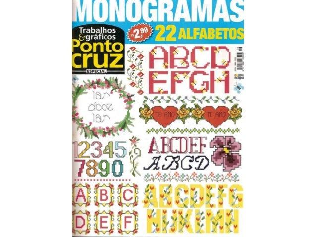 Trabalhos & gráficos ponto cruz   monogramas.1