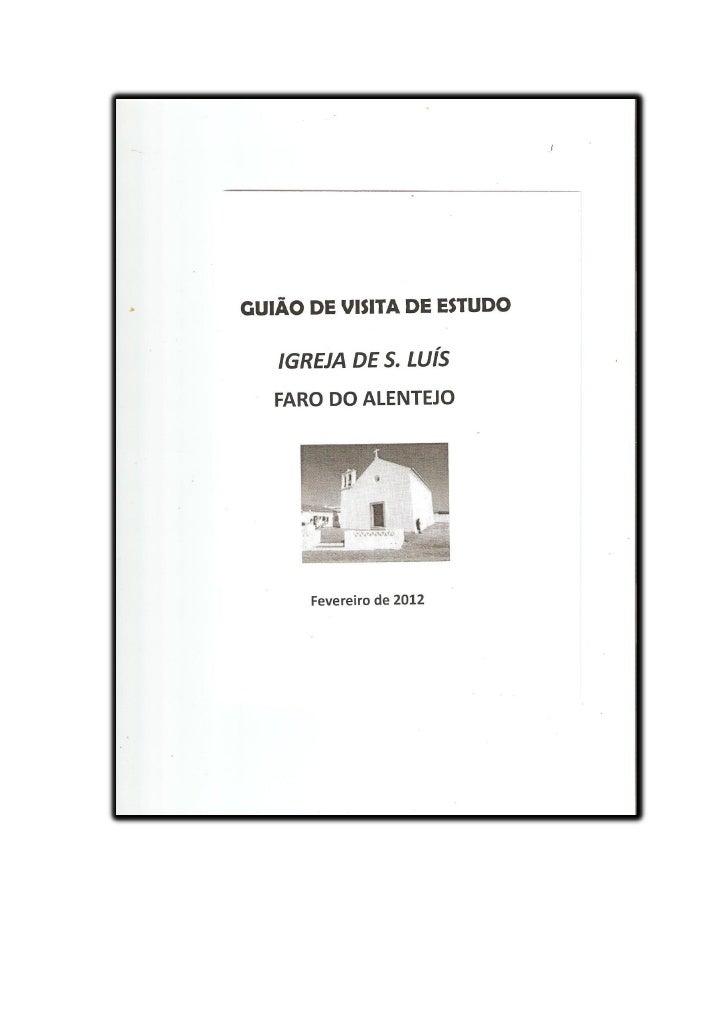 OS NOSSOS TEXTOS DA VISITAIGREJA DE S. LUÍS DE FARO DO ALENTEJO