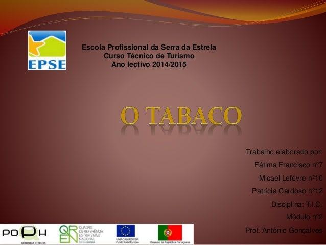 Escola Profissional da Serra da Estrela Curso Técnico de Turismo Ano lectivo 2014/2015 Trabalho elaborado por: Fátima Fran...
