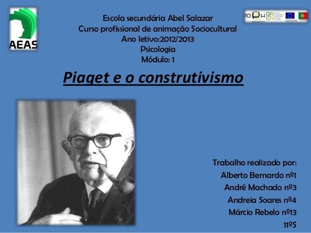 Escola secundária Abel Salazar  Curso profissional de animação Sociocultural               Ano letivo:2012/2013           ...