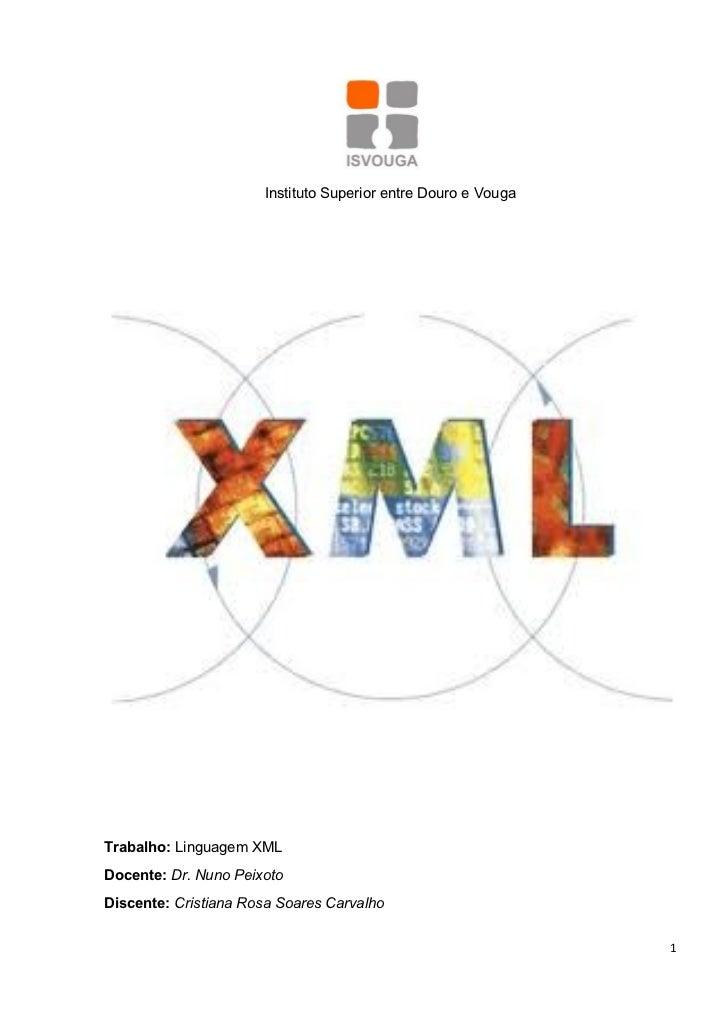 Trabalho sobre xml