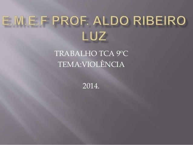 TRABALHO TCA 9ºC  TEMA:VIOLÊNCIA  2014.