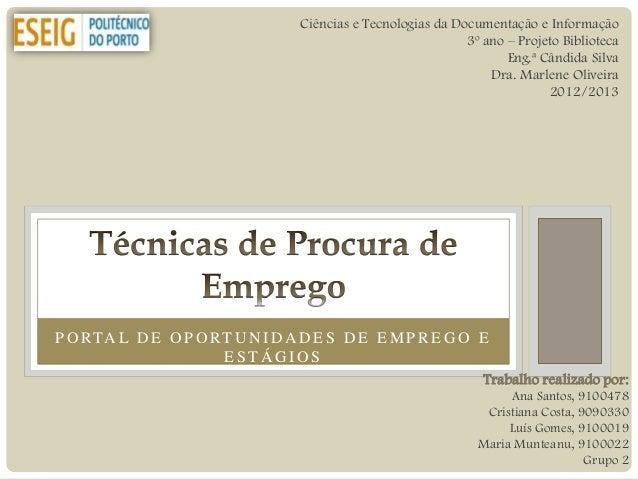 Ciências e Tecnologias da Documentação e Informação                                                             3º ano – P...