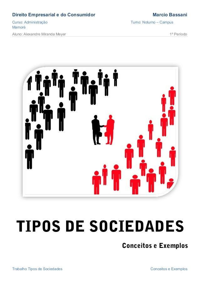 Direito Empresarial e do Consumidor                Marcio BassaniCurso: Administração                    Turno: Noturno – ...