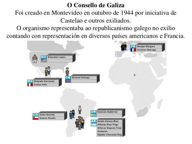 O Consello de Galiza Foi creado en Montevideo en outubro de 1944 por iniciativa de Castelao e outros exiliados. O organism...