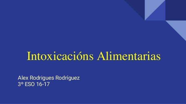 Intoxicacións Alimentarias Alex Rodrigues Rodríguez 3º ESO 16-17