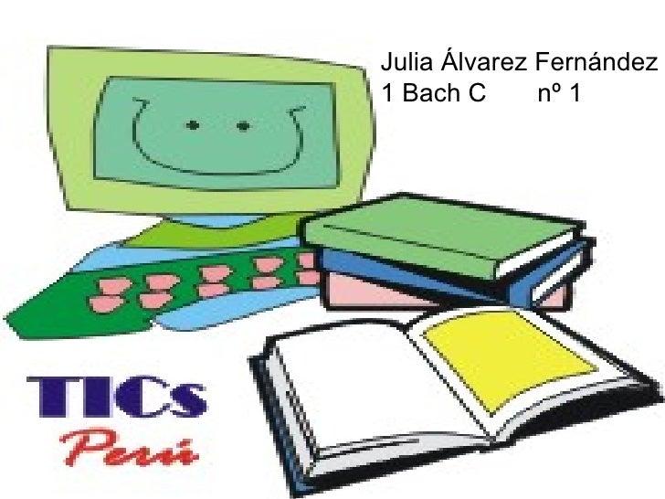Julia Álvarez Fernández 1 Bach C  nº 1