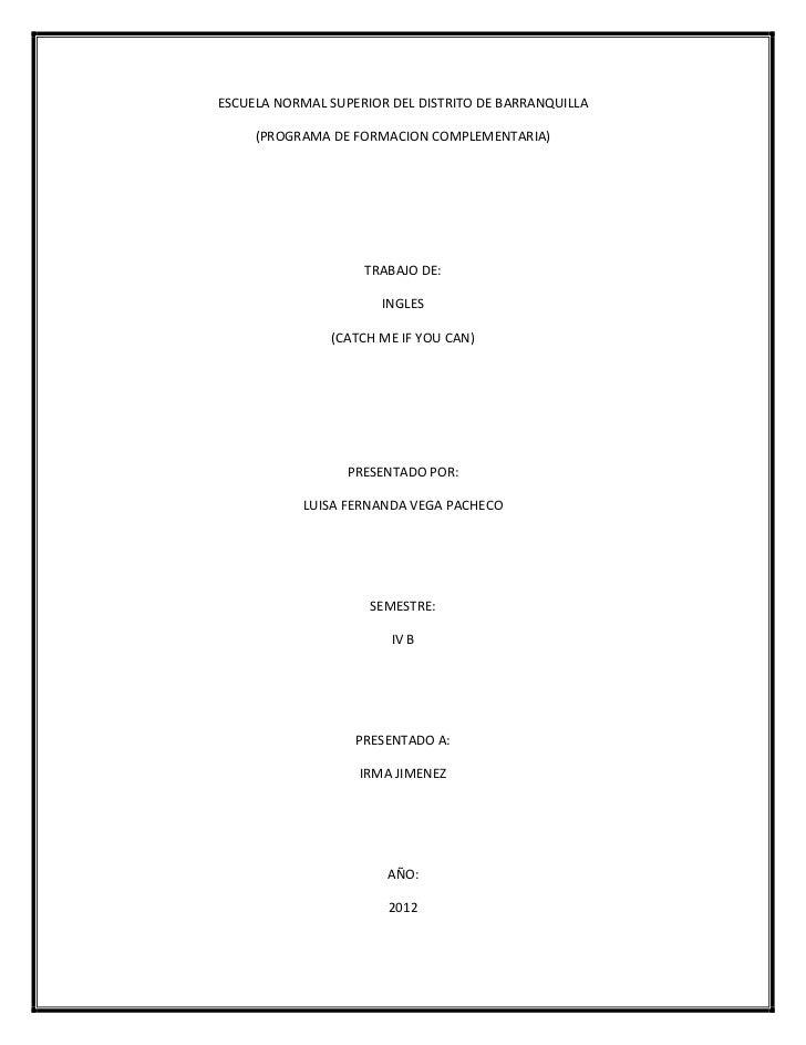 ESCUELA NORMAL SUPERIOR DEL DISTRITO DE BARRANQUILLA     (PROGRAMA DE FORMACION COMPLEMENTARIA)                    TRABAJO...