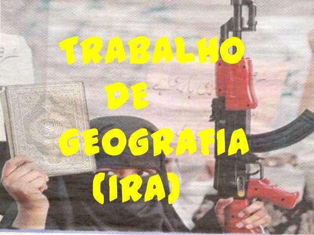 TRABALHO DE GEOGRAFIA (IRA)