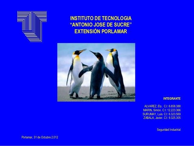 """INSTITUTO DE TECNOLOGIA                                """"ANTONIO JOSE DE SUCRE""""                                  EXTENSIÓN ..."""