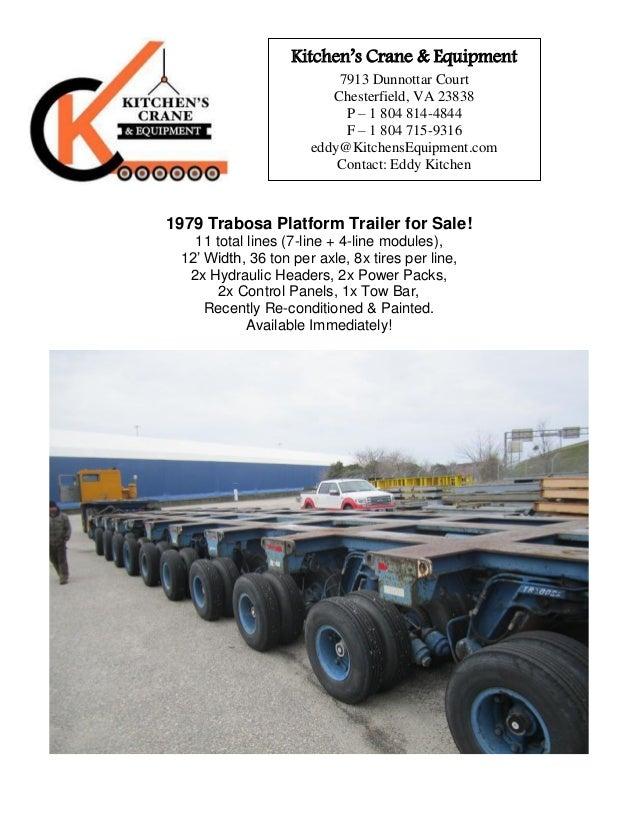 Trabosa 11-line Platform Trailer for Sale!