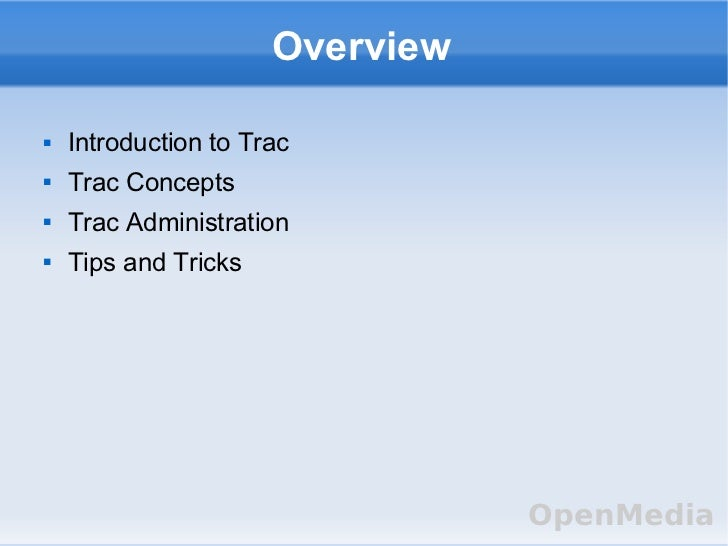 Trac software