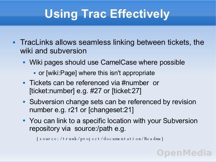 Trac project management