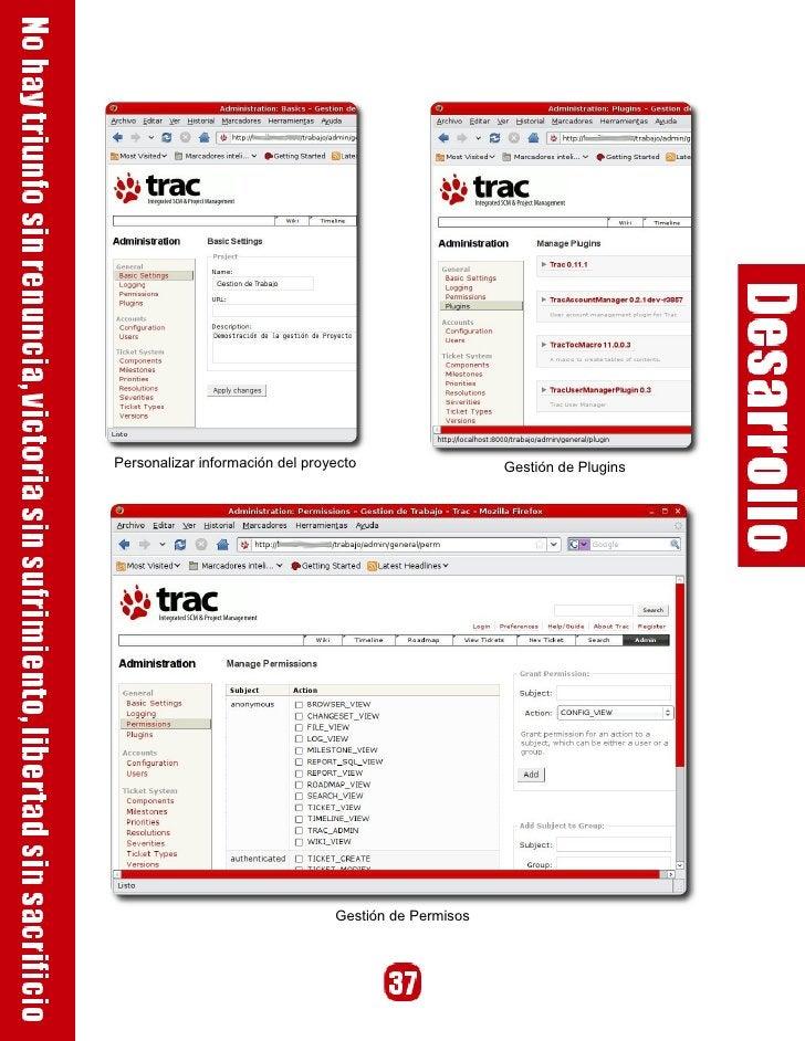 Personalizar información del proyecto                  Gestión de Plugins                                      Gestión de ...