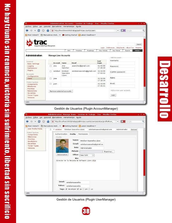 Gestión de Usuarios (Plugin AccountManager)      Gestión de Usuarios (Plugin UserManager)