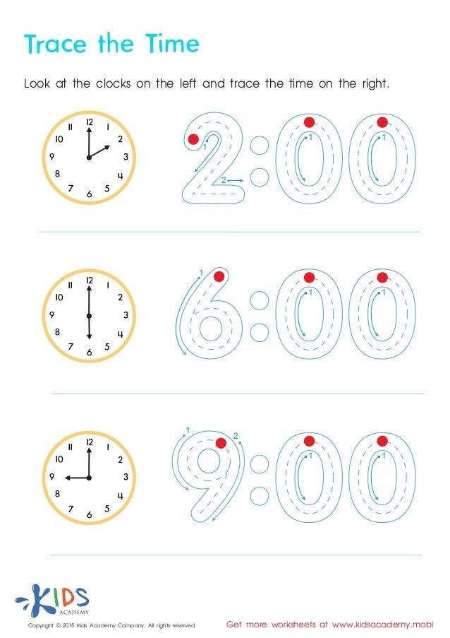 Time Worksheets For Kindergarten
