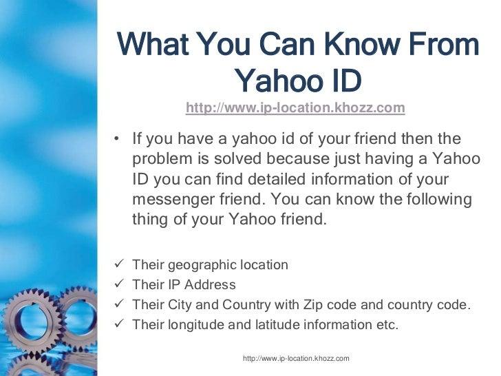 ip address tracer yahoo instant messenger