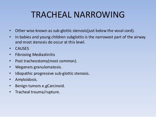 FIBROSING MEDIASTINITIS  • Usually occurs due to tuberculosis  and histoplasmosis causing tracheal  narrowing Fibrosing Me...