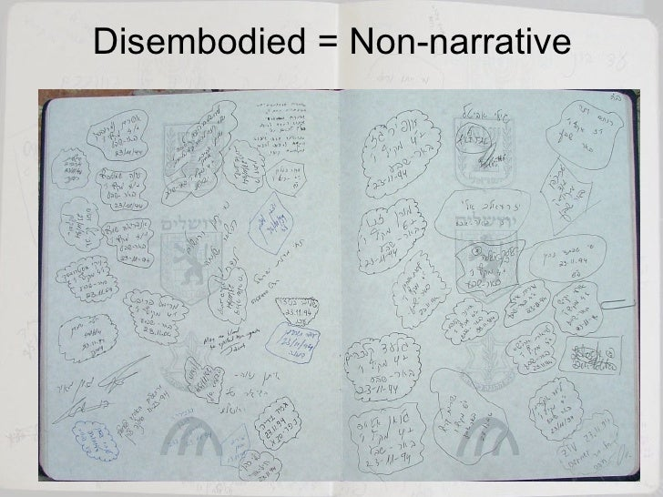 Disembodied = Non-narrative