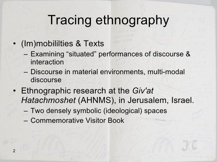 Tracing Ethnography Slide 2
