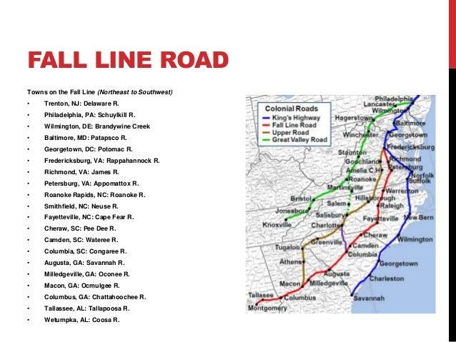 Tracing Migration Trails - Georgia map fall line