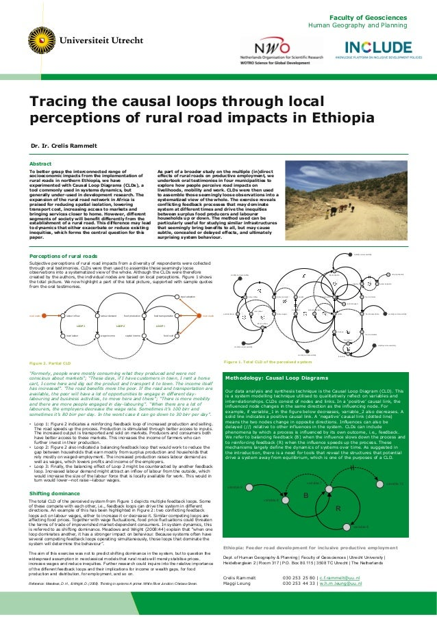 Tracing the causal loops through local perceptions of rural road impacts in Ethiopia Abstract To better grasp the intercon...