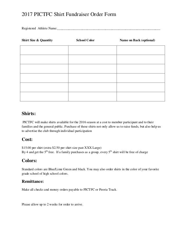 how to make an order form