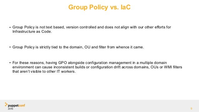 Puppetconf 2016 A Tale Of Two Hierarchies Group Policy Puppet M