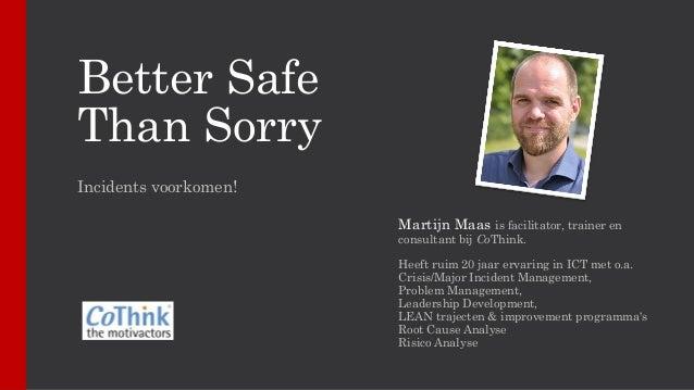 Anna Dahlgren: Better safe than sorry