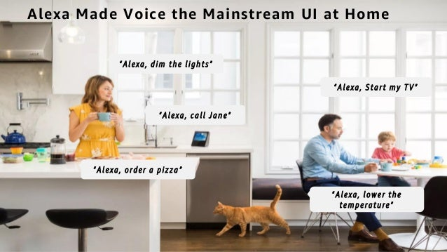 """© 2018, Amazon Web Services, Inc. or its affiliates. All rights reserved. Alexa Made Voice the Mainstream UI at Home """"Alex..."""