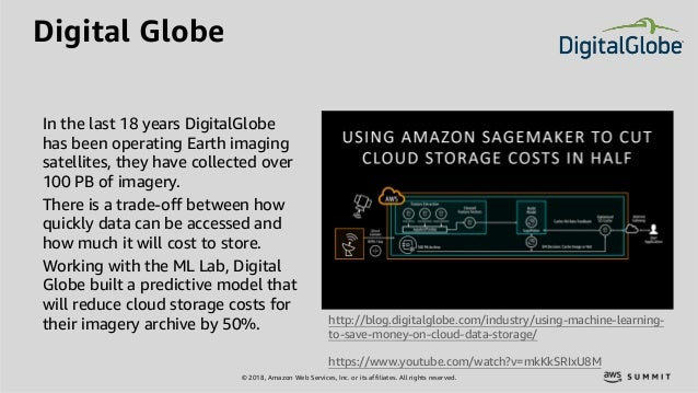 © 2018, Amazon Web Services, Inc. or its affiliates. All rights reserved. Digital Globe http://blog.digitalglobe.com/indus...