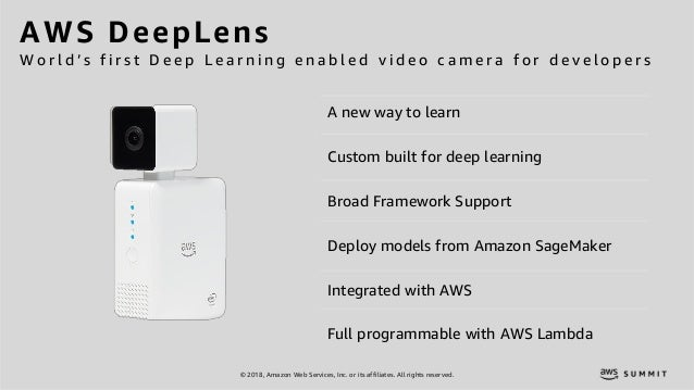 © 2018, Amazon Web Services, Inc. or its affiliates. All rights reserved. A new way to learn Custom built for deep learnin...