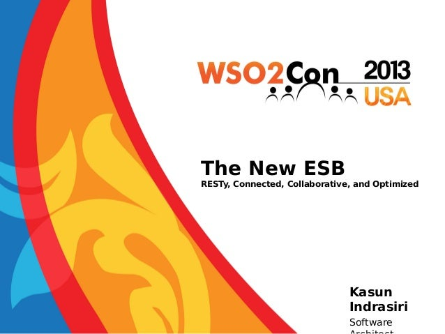 The New ESB  RESTy, Connected, Collaborative, and Optimized  Kasun Indrasiri Software