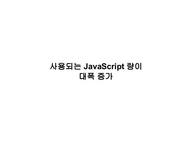 사용되는 JavaScript 량이 대폭 증가